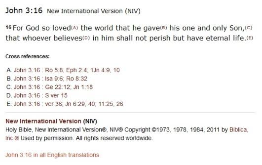 Biblegateway individual verse